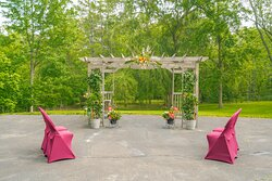 Outdoor pergola for marriage or commitment ceremonies, elopements, or vow renewals.