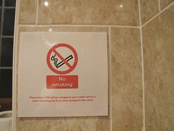 Penalty for smoking