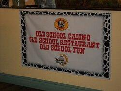 Banner just inside the Chuckwagon Restaurant