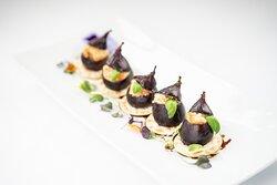 Roasted figs stuffed with smoked salmon & cream cheese