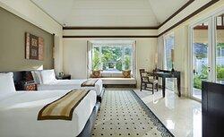 Two Bedroom Double Pool Villa Twin Room