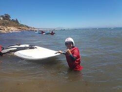 cursos de windsurf para niños en Tarifa