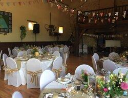 La grande salle en temps de mariage