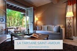 Les terrasses des chambres de la Tartane