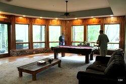 Pool Table and sitting area