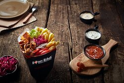 Doner Box with Fries and Salad