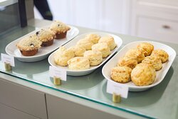 Scones and muffins.