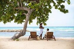Couple enjoying the beach