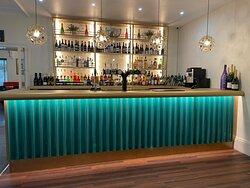 The newly refurbished bar.