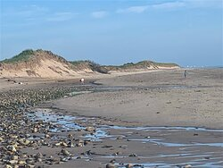 dunes to south of main beach