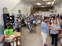 Inside the store during the Ribbon cutting celebration.