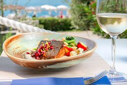 Food at the Mistral Beach Bar & Restaurant