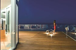 Penthouse Suite Guest on Terrace by Night
