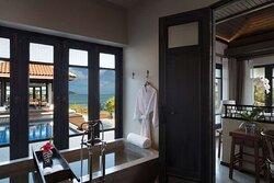 Lawana Pool Villa bathroom with pool access