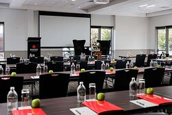 Savoy West function room, classroom style