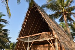 Beach villa with mega hammock