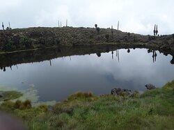 Crater Lake at Mount Muhavura