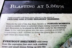 5.  Llanymynech Limeworks Heritage Area, Llanymynech;  Information board with regard to blasting at the quarry