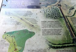 8.  Llanymynech Limeworks Heritage Area, Llanymynech;  Information board with regard to the stone-powered railway system