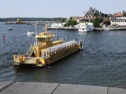 Färjan från Vaxholm till Kastellet