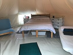 inside of Sand and Sunset tent