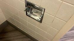 Toilet paper dispenser.
