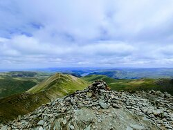a few cairns on the top of Helvellyn