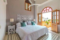 Habitación - Apartamento Dos Habitaciones con Balcón y  Vista a la Piscina