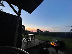 Sunset view from the hot tub