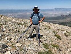Me on top of Wheeler Ridge with Hwy 50 below