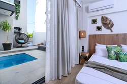 The White Villa υπνοδωμάτιο