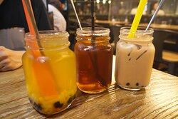 百香果QQ冰茶、荔枝冰紅茶 & 珍珠奶茶