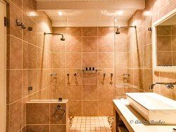 His and her shower