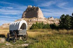 Conestoga Wagon and Bluff