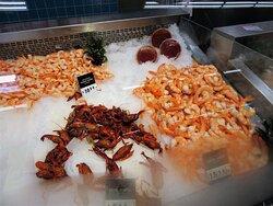 Hy-Vee: fresh sea products (2). July 2021
