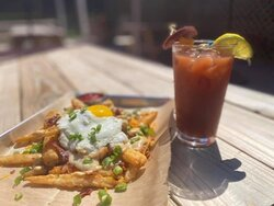 Our Brunch special- Disco Fries (Brunch is served every Sunday from 11-3)
