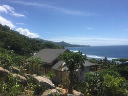 Superior Chalets overlooking Surfers' Beach at beautiful Anse Parnel.  Mahé, Seychelles.
