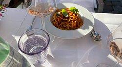 Spaghetti Garnele mit Chili, ofengetrockneten Tomaten und Frühlingslauch