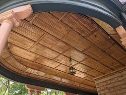 Ceiling of the porch