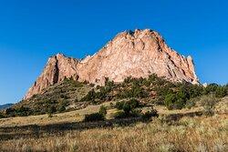 Rock Fin Piercing Upward from the Grassland