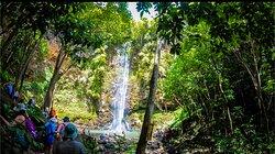 The sacred Uluwehi Falls