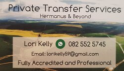 Based in Hermanus , Lori can now also offer private shuttles and bespoke tours to and from Cape Town, Port Elizabeth and George airports. Visit any destination along the Garden Route or enjoy a tour of of Cape Town. Shuttles to private functions, weddings, sporting events easily arranged. Strict Covid protocols observed.