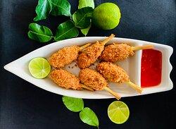 Lemongrass Seafood Lolipop