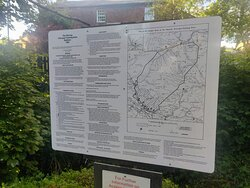 info board at start of walk on outskirts of Dufton