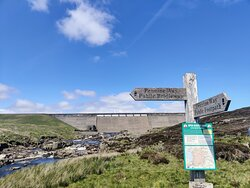 we stuck to the Pennine Way and didn't get any closer to the reservoir than the road near Cauldron Snout.