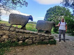 I thought the stone sheep statues were great. I loved the inscriptions.