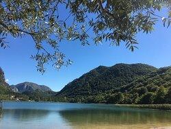 Boracko lake beach view