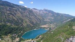 Drone photography of Boracko lake