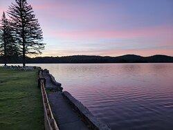 Beautiful lake and sunrises