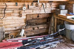 Supplies Inside the Boathouse